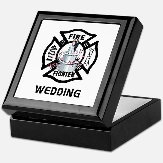 Firefighter Wedding Cake Keepsake Box