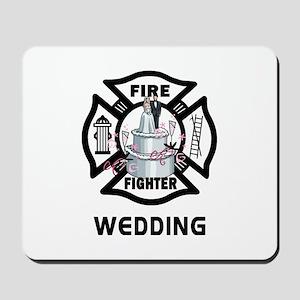 Firefighter Wedding Cake Mousepad