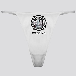Firefighter Wedding Cake Classic Thong
