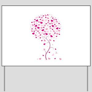 Pink Ribbon Tree - Tree of Ho Yard Sign
