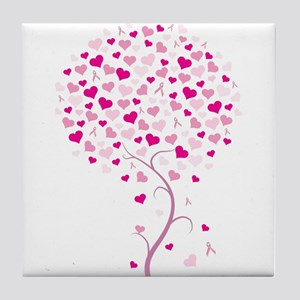 Pink Ribbon Tree - Tree of Ho Tile Coaster