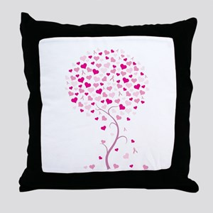 Pink Ribbon Tree - Tree of Ho Throw Pillow