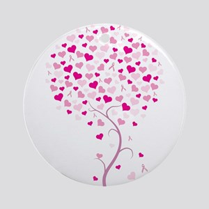 Pink Ribbon Tree - Tree of Ho Ornament (Round)