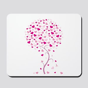 Pink Ribbon Tree - Tree of Ho Mousepad
