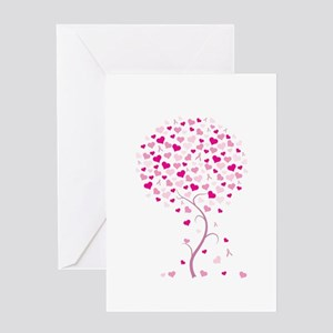 Pink Ribbon Tree - Tree of Ho Greeting Card