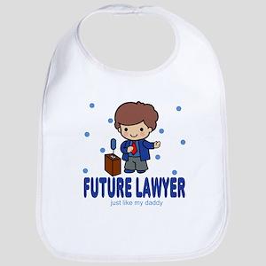 Future Lawyer like Daddy Baby Infant Toddler Bib