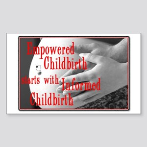 Empowered Childbirth Rectangle Sticker