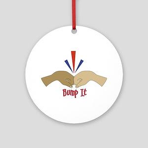 Fist Bump Ornament (Round)