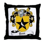 Dow Family Crest Throw Pillow