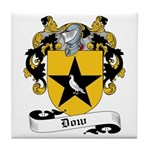 Dow Family Crest Tile Coaster