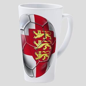 English 3 Lions Football 17 Oz Latte Mug