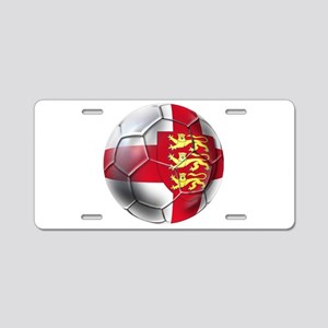 English 3 Lions Football Aluminum License Plate