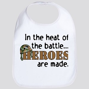 IN THE HEAT, HEROES ARE MADE Bib