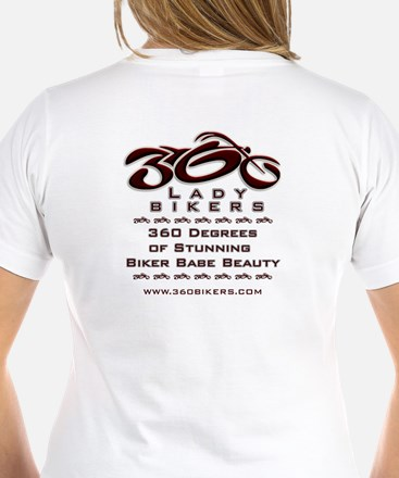 360 logo-red-9inches-LadyBikers T-Shirt
