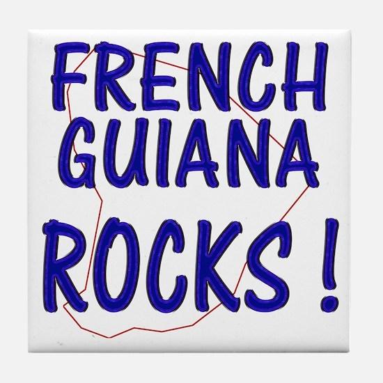 French Guiana Rocks ! Tile Coaster