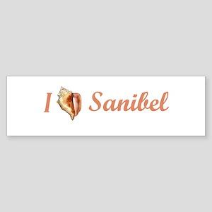 I Heart Sanibel Bumper Sticker