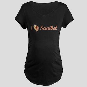 I Heart Sanibel Maternity Dark T-Shirt