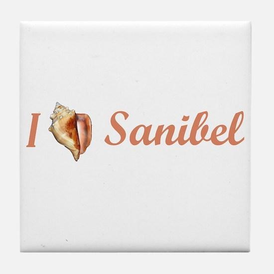 I Heart Sanibel Tile Coaster
