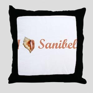 I Heart Sanibel Throw Pillow