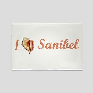 I Heart Sanibel Rectangle Magnet