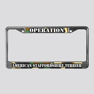 Operation American Staffy License Plate Frame