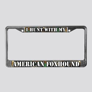 Hunting American Foxhound License Plate Frame