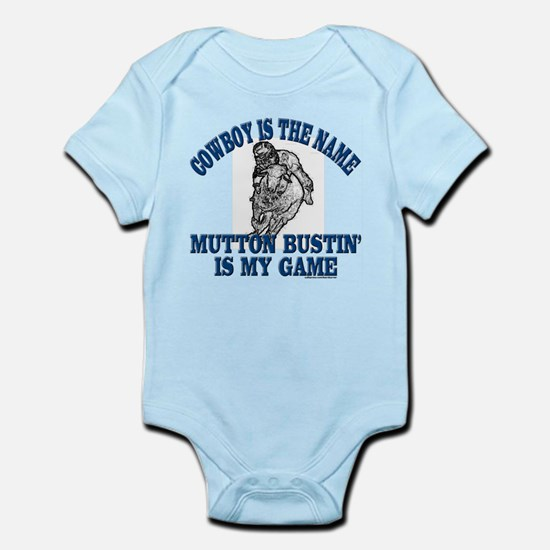 MUTTON BUSTIN' IS MY GAME Infant Bodysuit