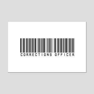 Corrections Officer Barcode Mini Poster Print