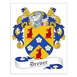 Drever Family Crest Small Poster