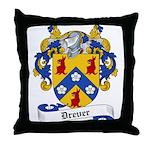 Drever Family Crest Throw Pillow