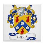 Drever Family Crest Tile Coaster