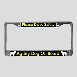 Old English Sheepdog Agility License Plate Frame