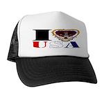USA I LOVE USA Trucker Hat