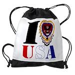 USA I LOVE USA Drawstring Bag