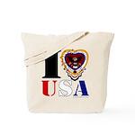 USA I LOVE USA Tote Bag