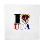 USA I LOVE USA Queen Duvet