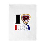 USA I LOVE USA Twin Duvet Cover