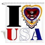 USA I LOVE USA Shower Curtain