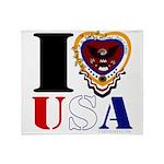 USA I LOVE USA Throw Blanket