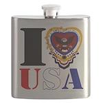 USA I LOVE USA Flask