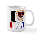USA I LOVE USA Mugs