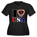 USA I LOVE USA Plus Size T-Shirt