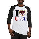 USA I LOVE USA Baseball Jersey