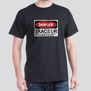 Traceur Parkour Danger Sign Dark T-Shirt