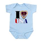 USA I LOVE USA Body Suit