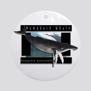 HumpBack Whale Art Ornament (Round)