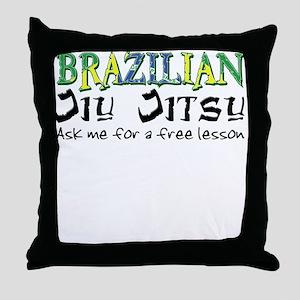 Brazilian Jiu Jitsu - Free Le Throw Pillow
