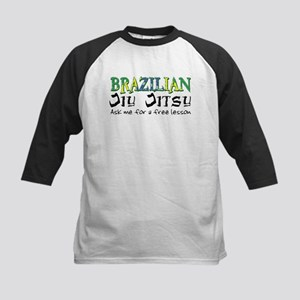 Brazilian Jiu Jitsu - Free Le Kids Baseball Jersey