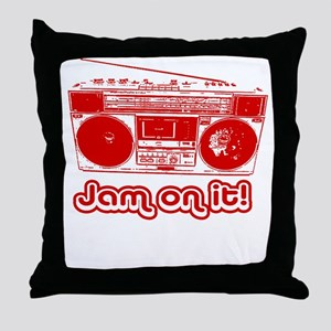 Boombox - Jam on It! Throw Pillow