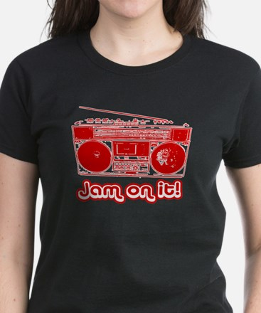 Boombox - Jam on It! Women's Dark T-Shirt